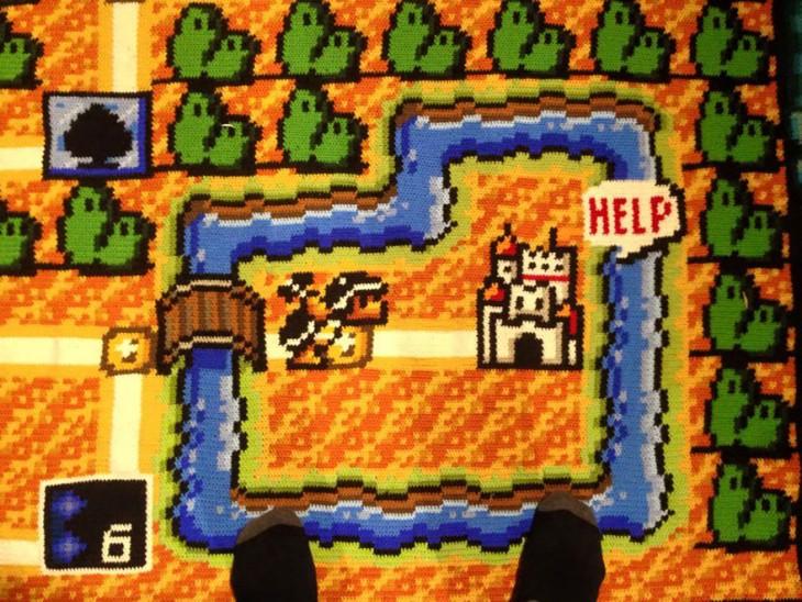 Castillo de la princesa Peach en el plano de Mario Bross 3