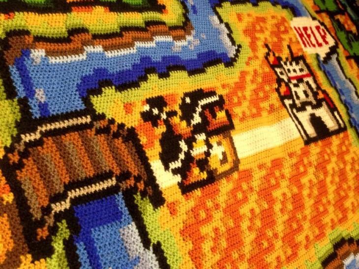 parte de la alfombra del plano de Mario Bross 3