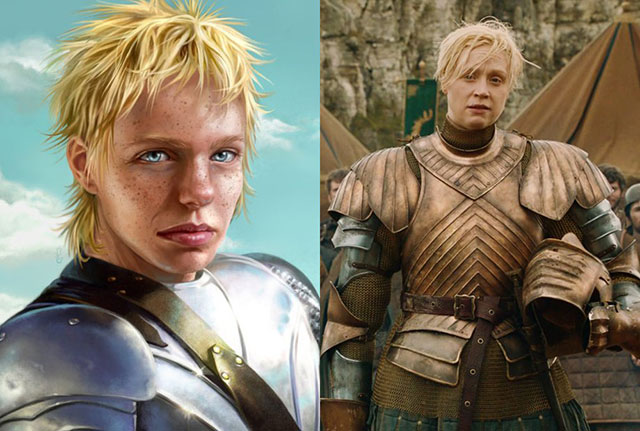 Personajes de Game of thrones de libros vs los de tv