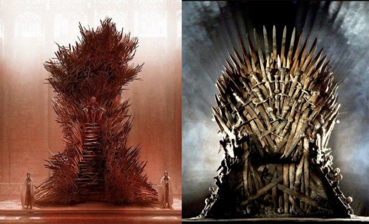 Trono de hierro de la serie y del libro Game Of Thrones