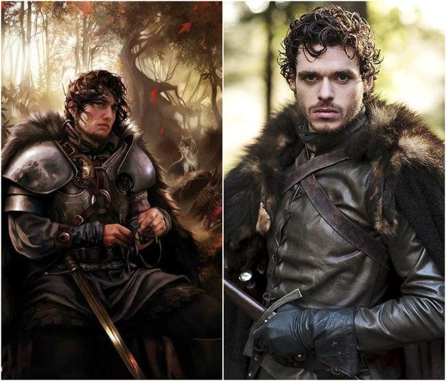 personaje de Robb Stark en la serie y en el libro