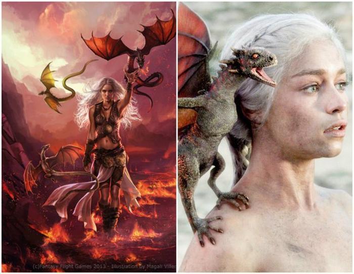personaje de Daenerys Targaryen en su libro y en la serie