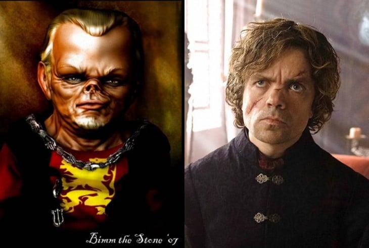 Tyrion Lannister en el libro y en la serie