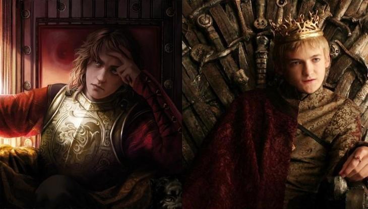 Joffrey Baratheon comparación de sus personajes en libro con el de la serie de televisión