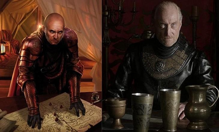 Tywin Lannister personaje del libro con el de sus serie