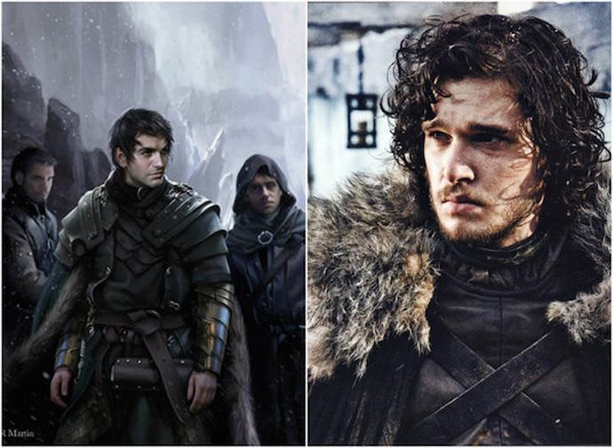 Jon Nieve fotografías de su personaje en la serie y en su libro