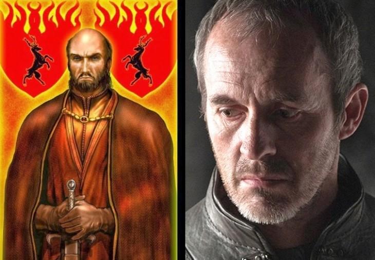 Stannis Baratheon en comparación de su personaje con la serie y con el de su libro