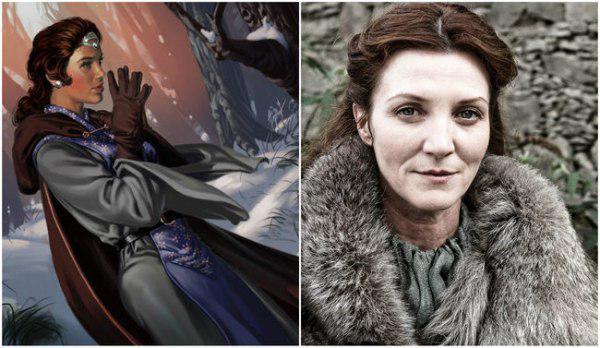Catelyn Stark comparación de su personaje con el libro y la serie