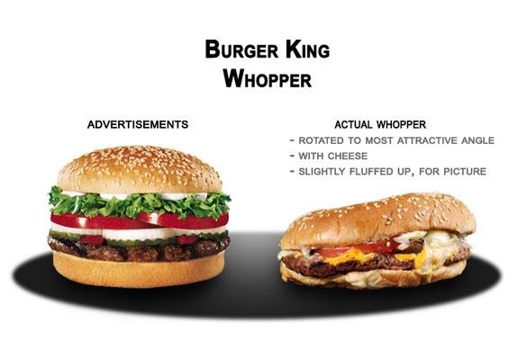 Publicidad engañosa en Burguer King