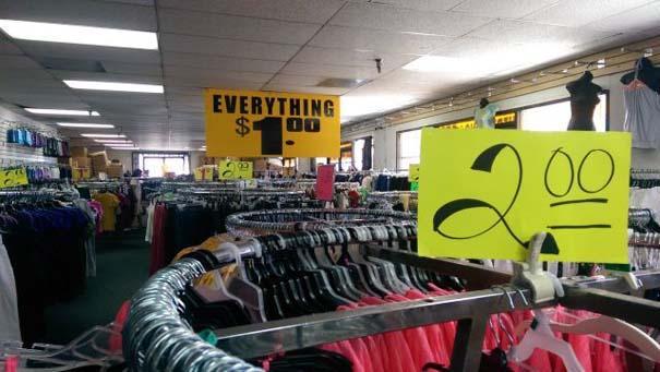 Tienda que se contradice con los precios en sus prendas