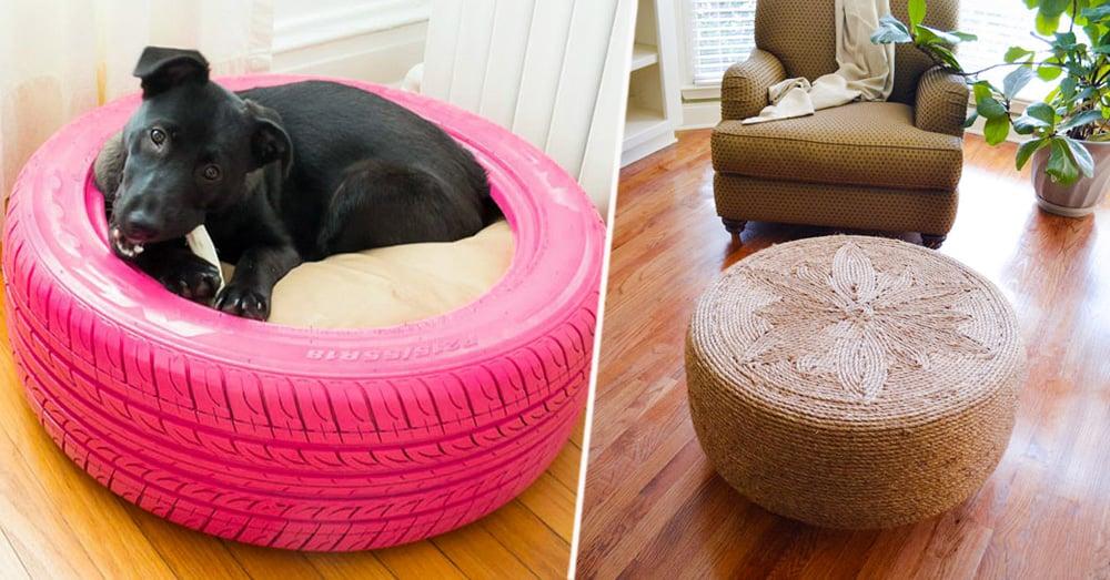 20 brillantes ideas para reciclar neum ticos usados - Reciclar cosas para el hogar ...