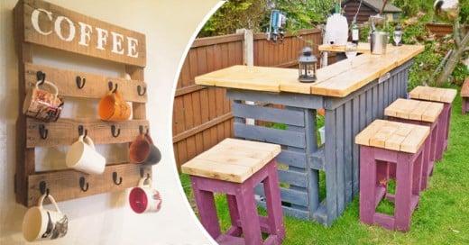Una manera de re-utilizar tarimas de madera para construir muebles muy originales