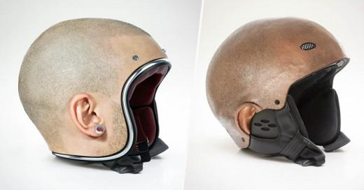 Estos cascos recrean la cabeza humana, una idea que ha muchos amantes de las Motos se les antojara tener uno
