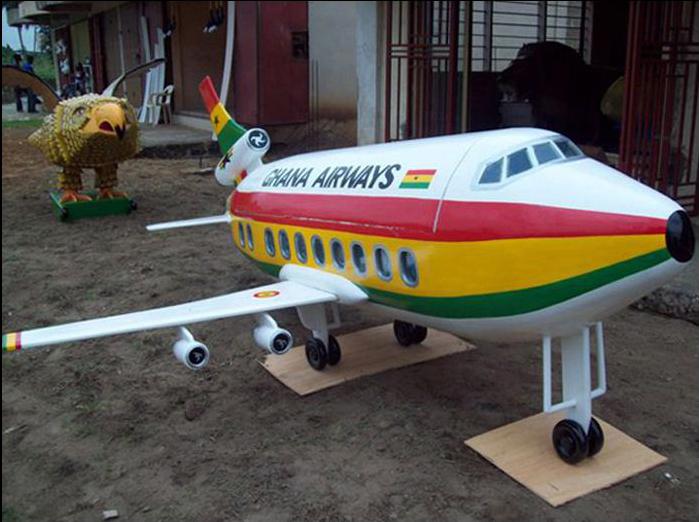 Ataúd en forma de avión