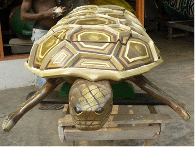ataúd en forma de tortuga