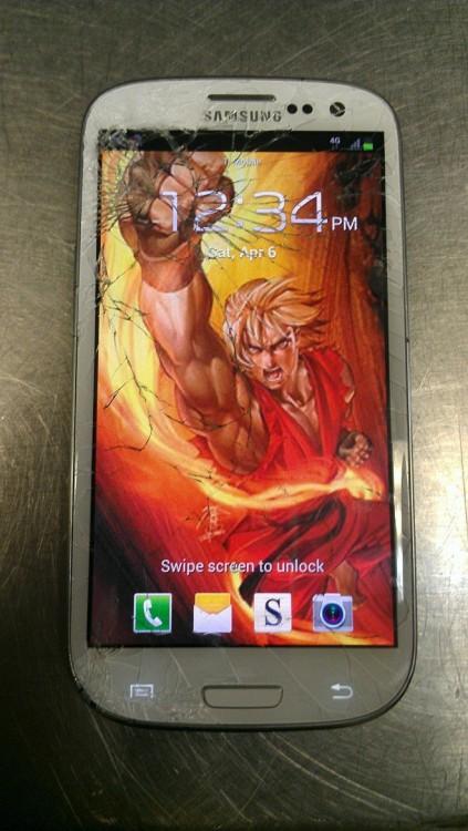 fondo de pantalla para un celular roto