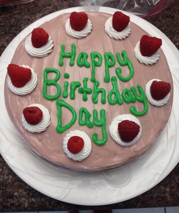 Fail de un pastel con un error en su dedicatoria