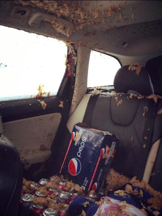 Fail de una Pepsi congelada olvidada en un coche y exploto