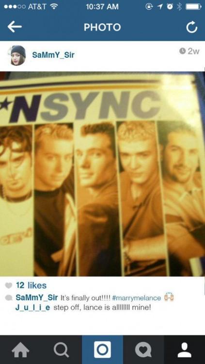 imagen en instagram del disco de NSYNC