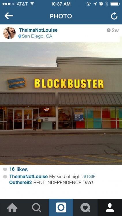 Captura de pantalla de una fachada de Bloclbuster en Instagram