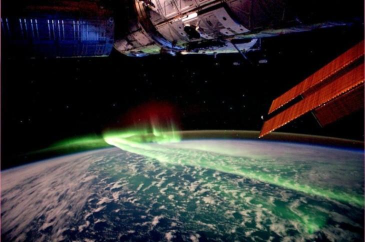 Aurora boreal desde el Espacio