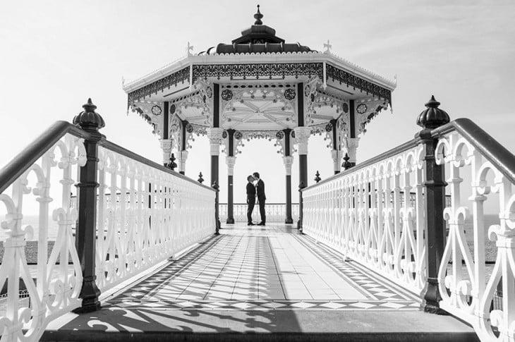 Primera boda homosexual en el ayuntamiento de Brighton
