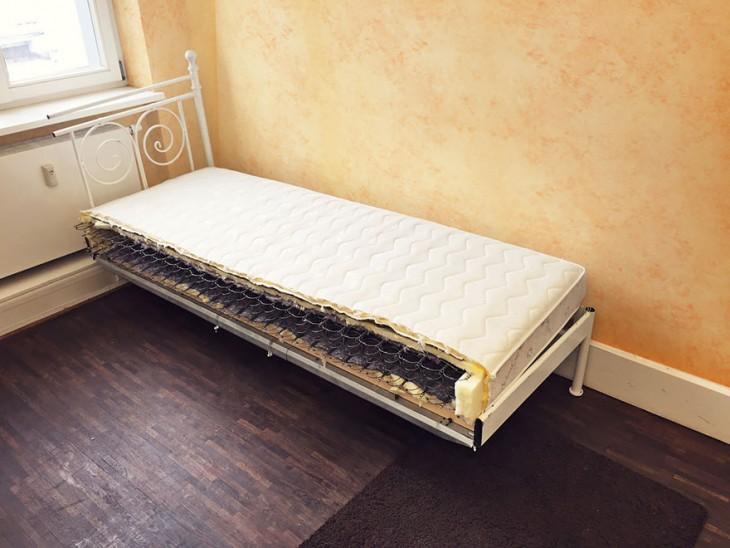 cama se parte por la mitad para evitar perderla en el divorcio