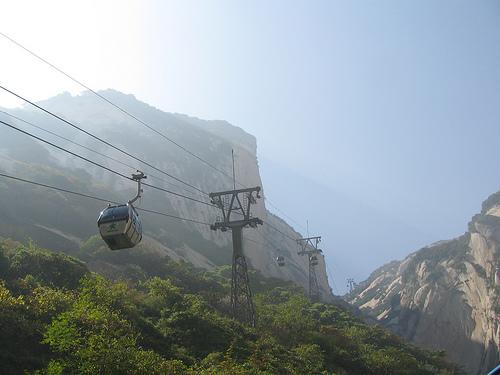 teleférico para ir al monte Huashan en China