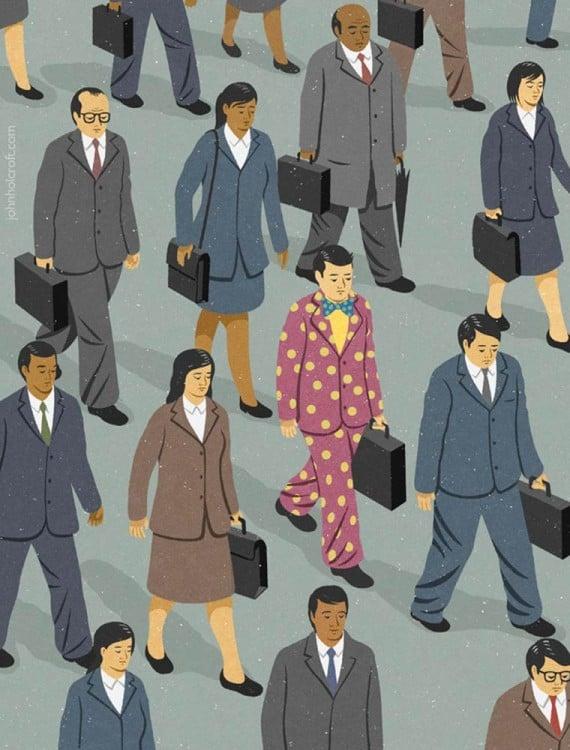 dibujos de oficinistas con portafolios
