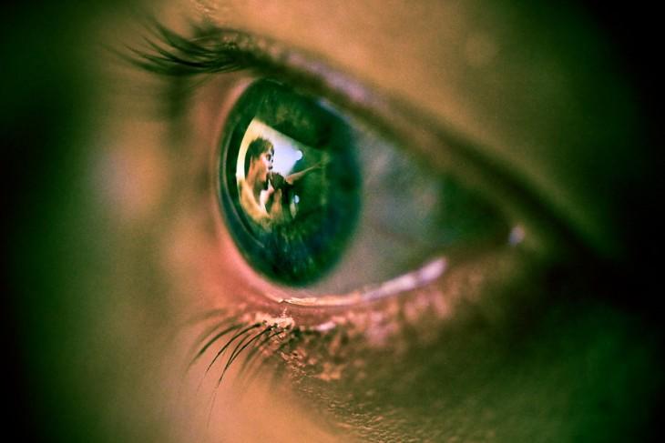 Fotografía del reflejo en un ojo