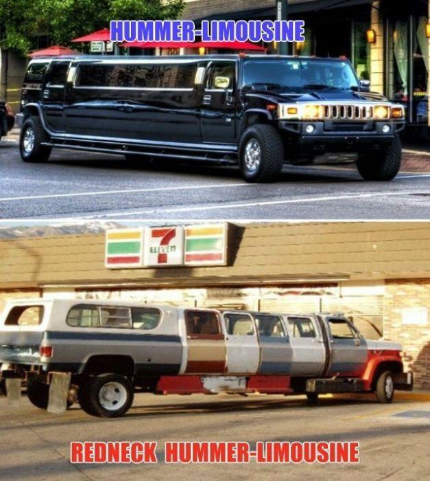 limusina hecha con piezas de varios carros