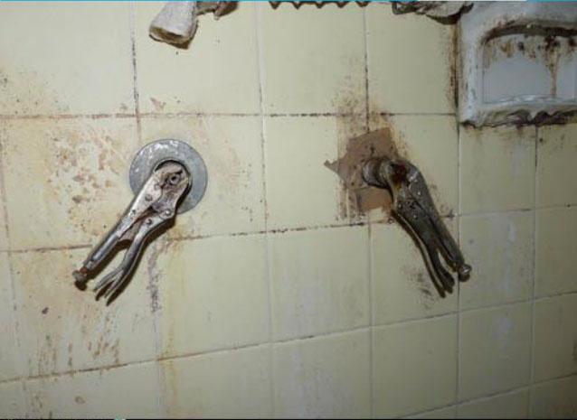 pinzas de presión para las manijas de la ducha