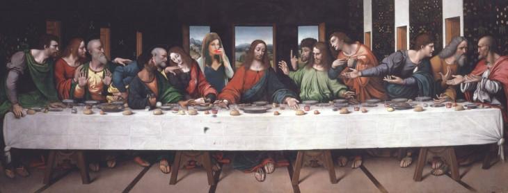 Escena de la última escena de Leonardo Da Vinci