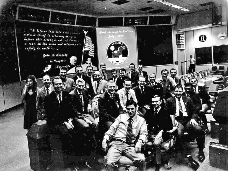 misión control de Apolo 11 en la NASA