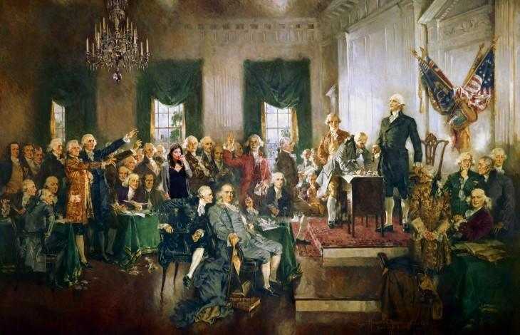 Photoshop de la declaración de independencia en los Estados Unidos