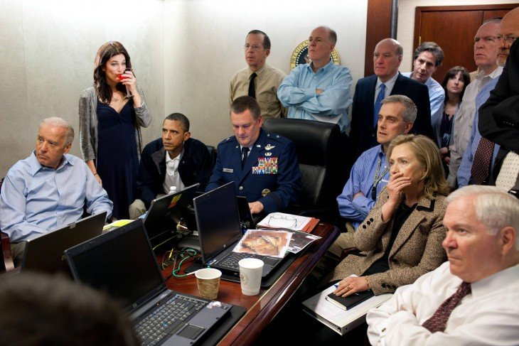 photoshop de la fotografía con figuras importantes en los Estados Unidos