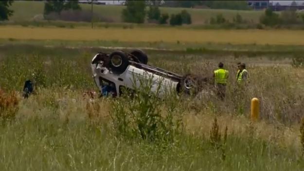 Fotografía de un accidente donde un hombre murió cuando iba con su familia en Brigthon Colorado