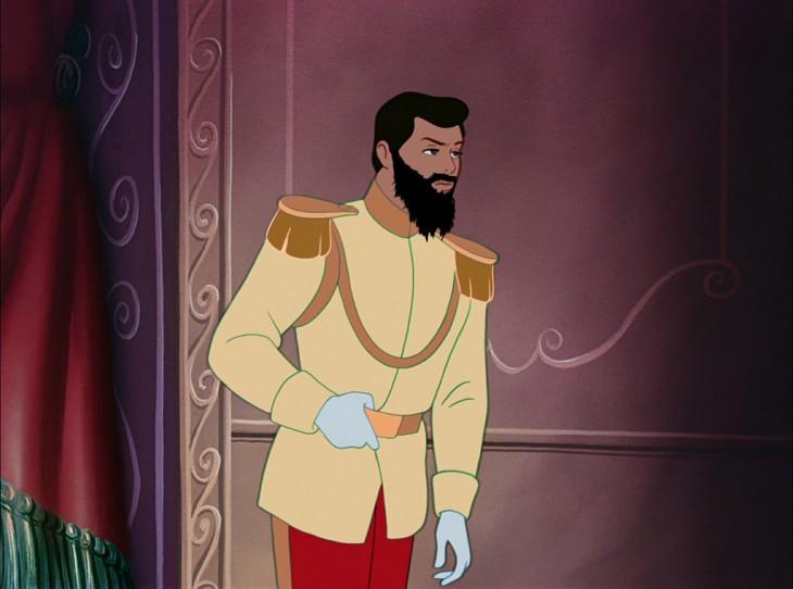 Príncipe de la Cenicienta con barba
