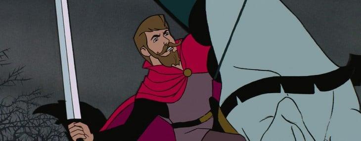 Príncipe Felipe de la película La bella durmiente con barba