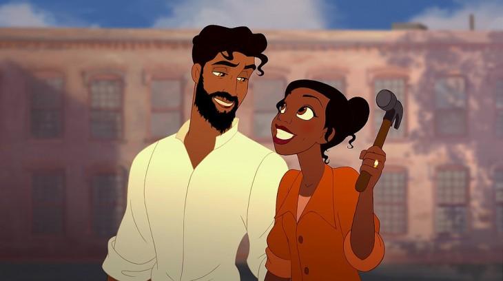 Príncipe Naveen de la princesa y el sapo con barba