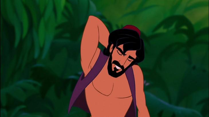 Aladdin con barba