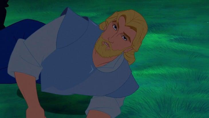 John Smith en Pocahontas con barba