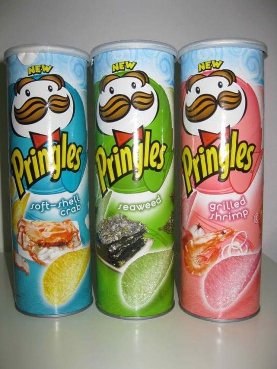 variedad de exoticos sabores de pringles para asia