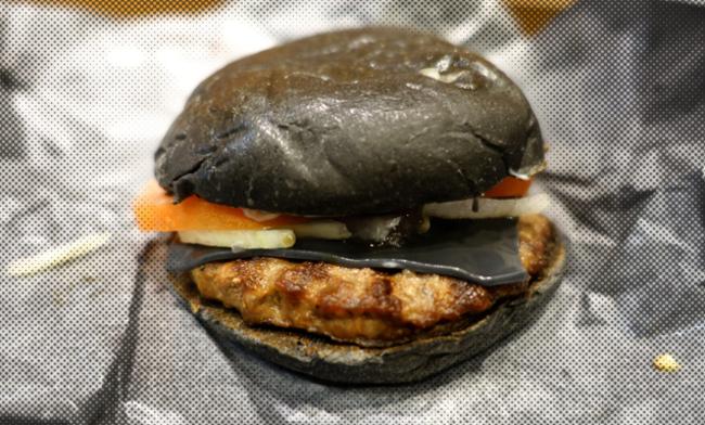 hamburguesa de tinta de calamar