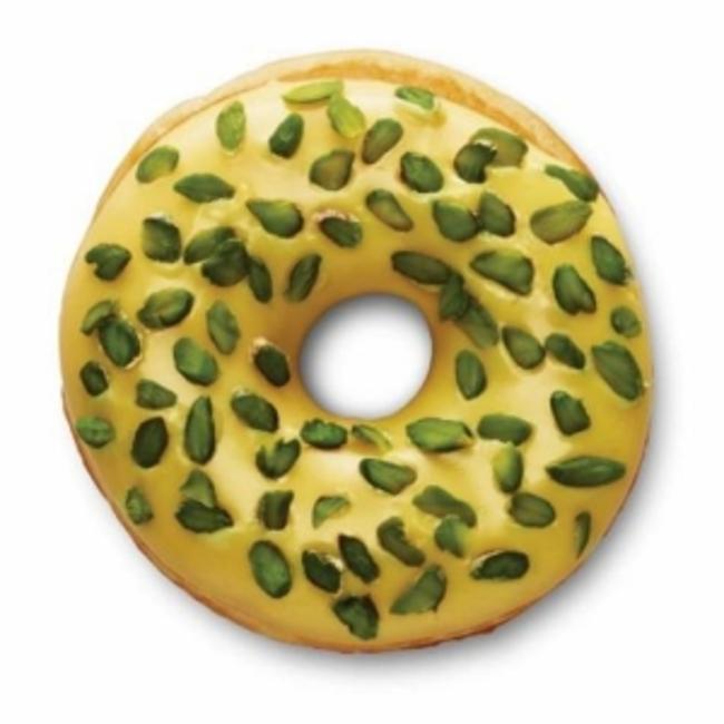 dunkin donut de azafrán y pistache