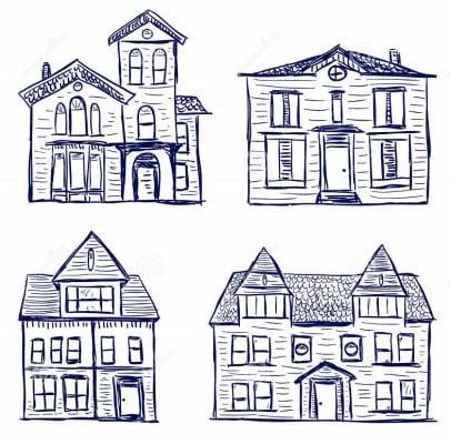 significado de dibujar casas en un papel