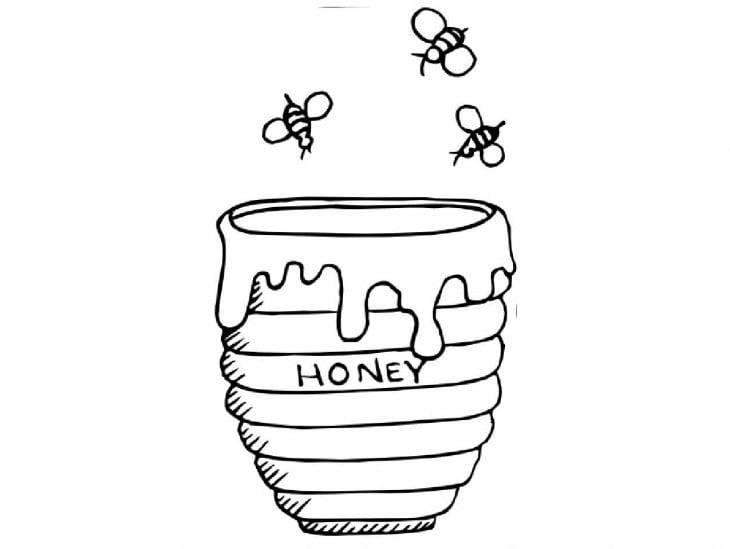 dibujo de un frasco de miel
