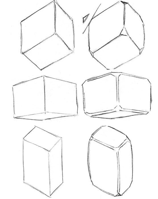 dibujos de figuras geométricas en un papel