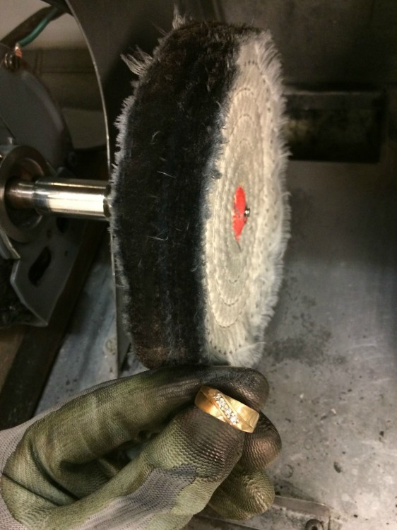 cilindro para pulir el anillo