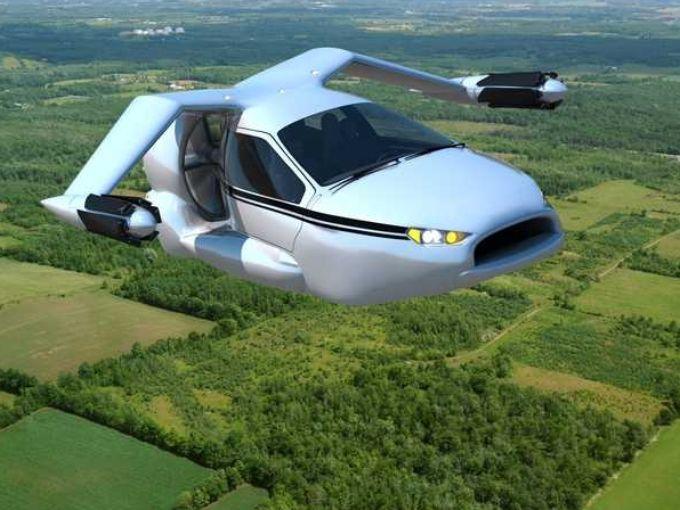Terrafugia modelo de un carro volador